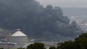 Factory fire in China