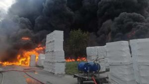 Fire in Avellino