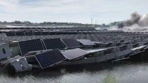 Floating solar plant near Tokyo