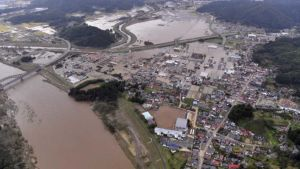 Flood in Japan after Typhoon Hagibis