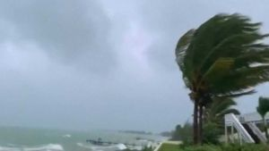 Hurricane Dorian destroying Bahamas