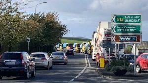 Irish border trucks