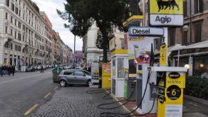 Italy petrol station
