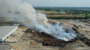 MetalX plant on fire