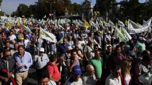 olive producers march in Madrid
