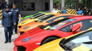 Seized luxury cars in Malaysia