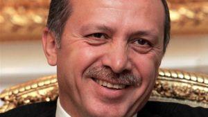 Tayyip Erdogan happy