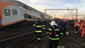 Train collision in Romania