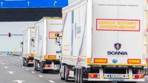 UK border trucks