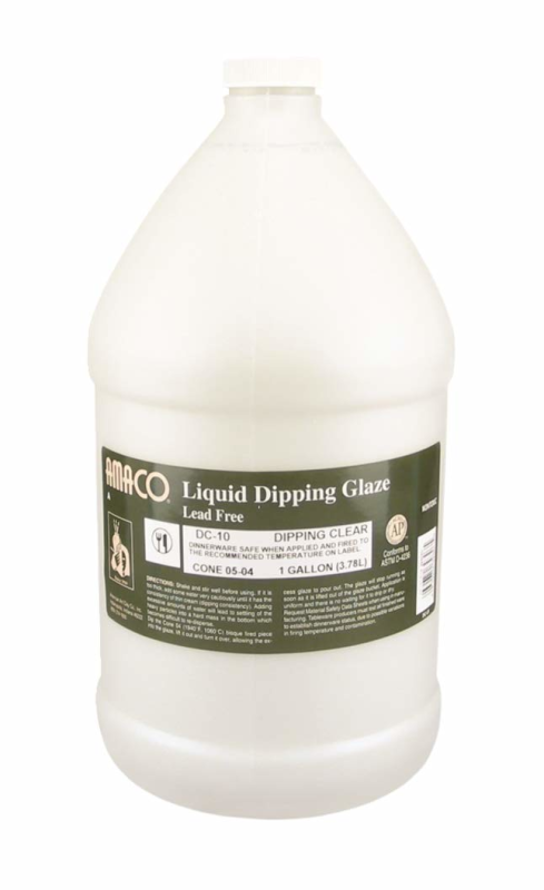 Low Fire Liquid Dipping Glaze, Clear DC-10