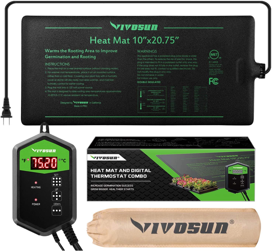 Seedling Heat Mat and Digital Thermostat