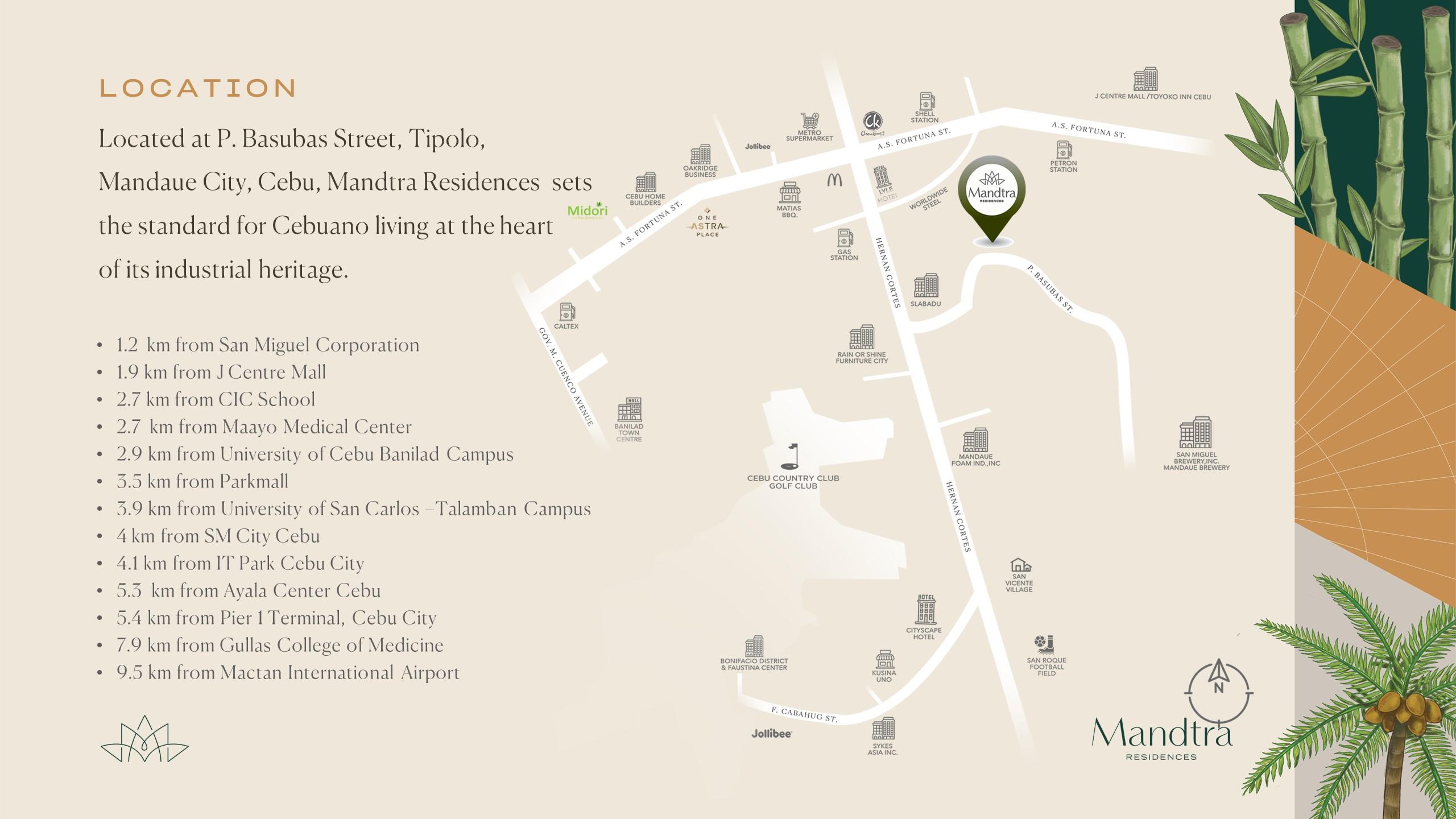 Mandtra Residences Location Vicinity Map
