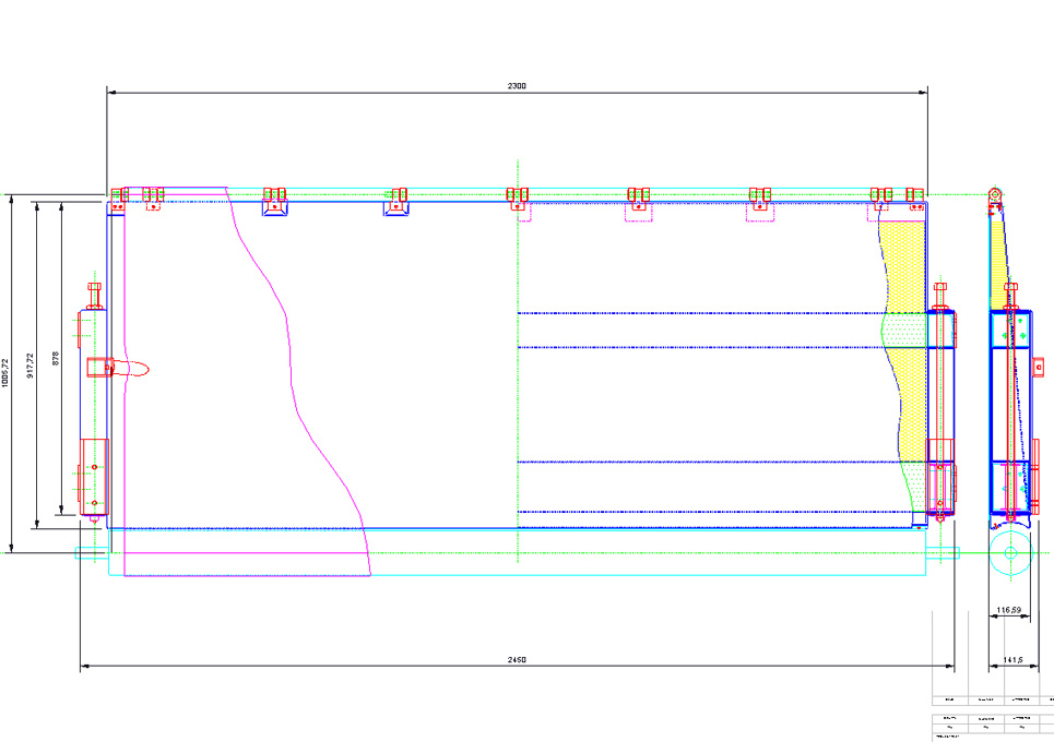 Industrial Composite Component 2D CAD Drawing
