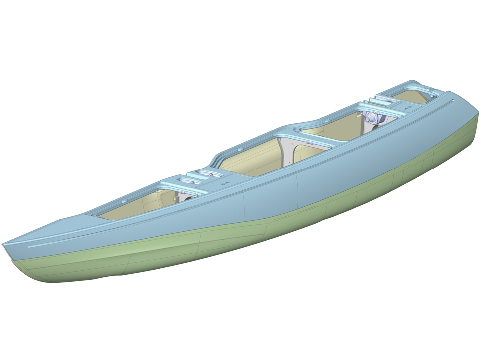 Powerboat Pontoon 3D CAD Model