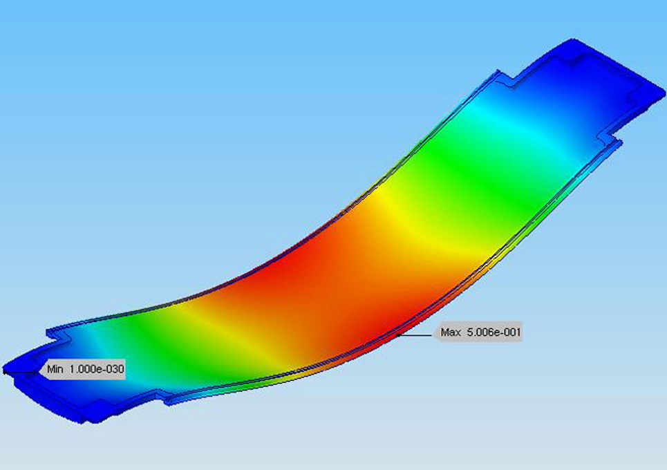 MRI Machine Carbon Fiber Carrier FEA Analysis