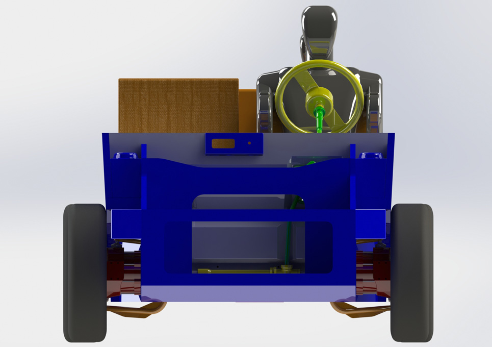 Hybrid Vehicle Chassis 3D CAD Model