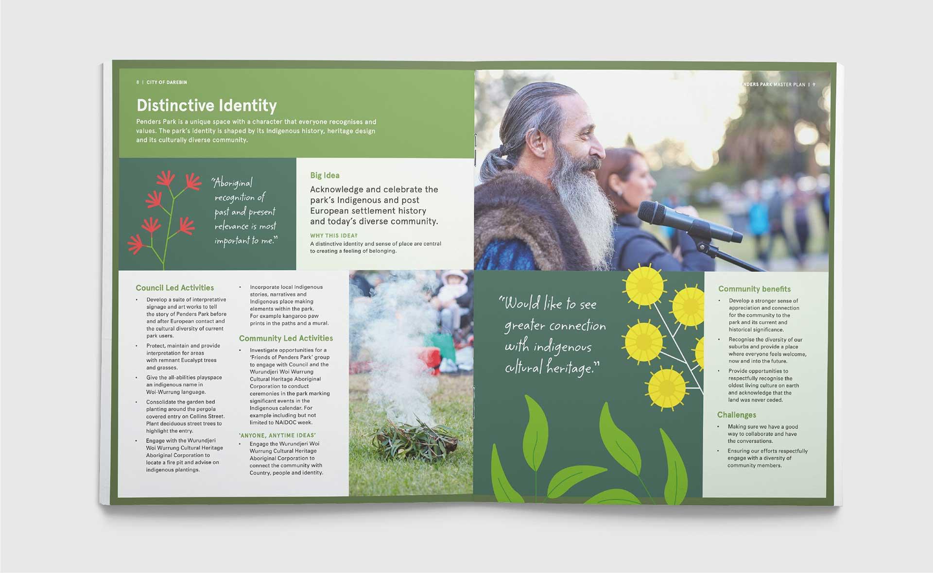 Penders Park Master Plan Brochure Design