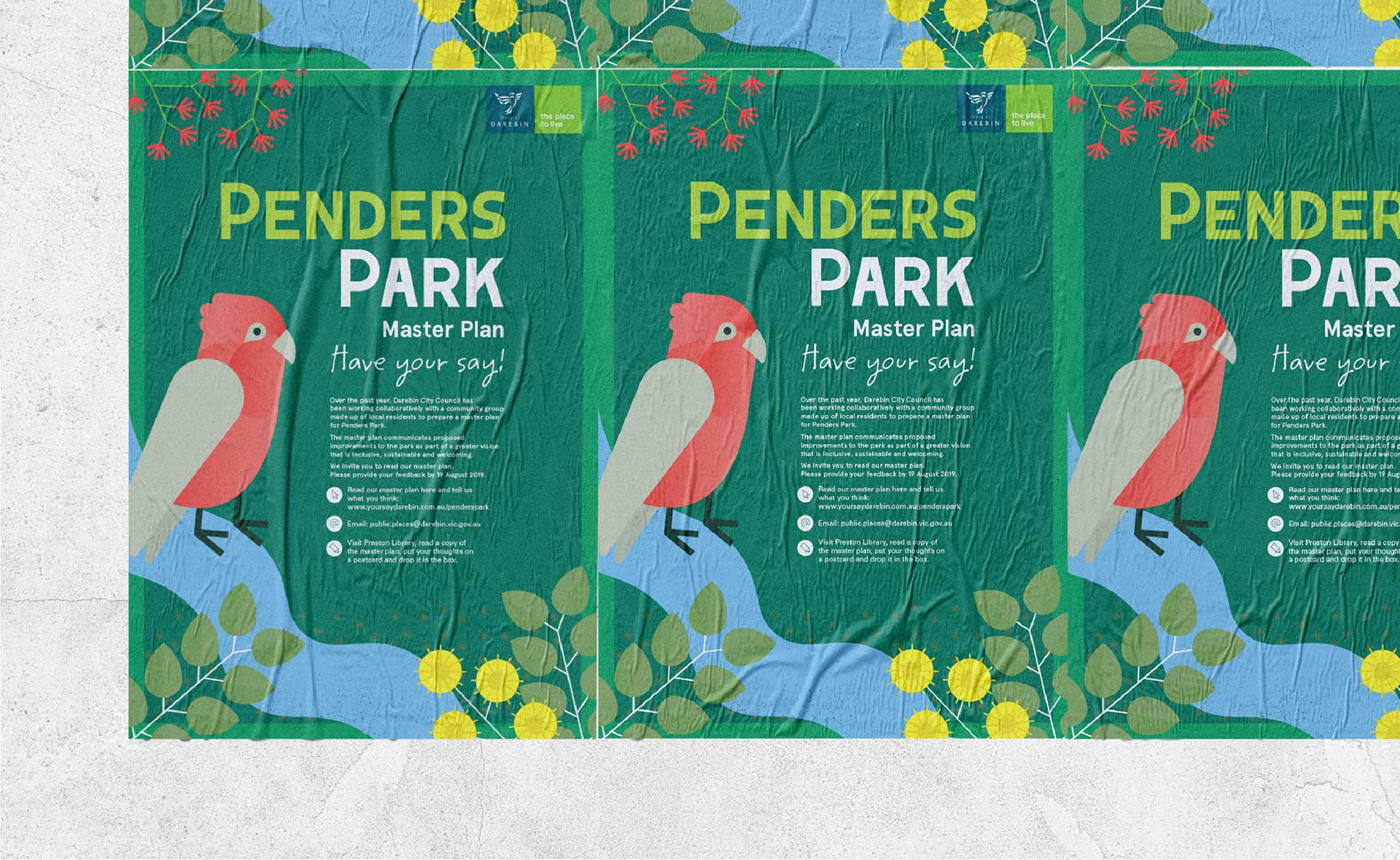 Penders Park Master Plan Event Poster