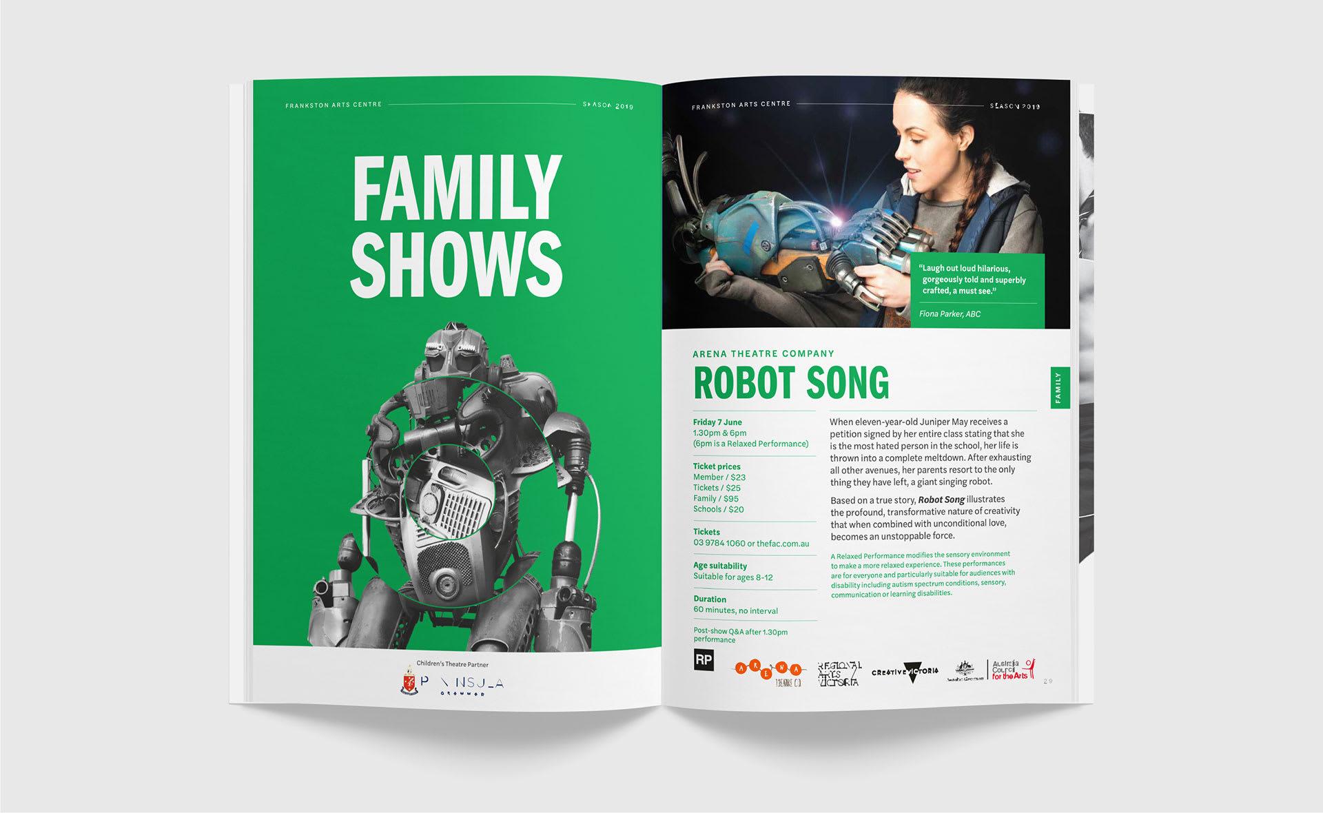 Frankston Arts Centre brochure design