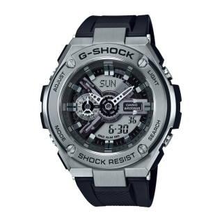 CASIOนาฬิกา G-Shock (59.1mm, ตัวเรือนสีสแตนเลส, สายสีดำ) รุ่น GST-410-1ADR