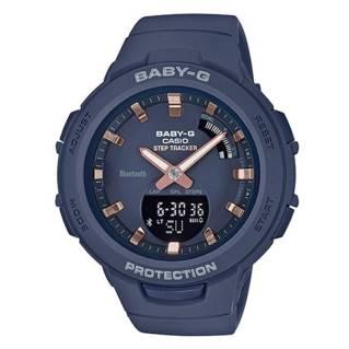 CASIOนาฬิกา Baby-G (49.6mm,ตัวเรือนสีน้ำเงิน, สายสีน้ำเงิน) BSA-B100-2ADR