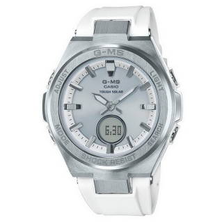CASIOBaby-G Watch (38.4 mm,ตัวเรือนสีสแตนเลส, สายสีขาว) MSG-S200-7ADR