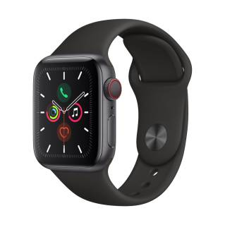 APPLEWatch Series 5 GPS+Cellular (40mm, Space Grey Aluminum Case, Black Sport Band)