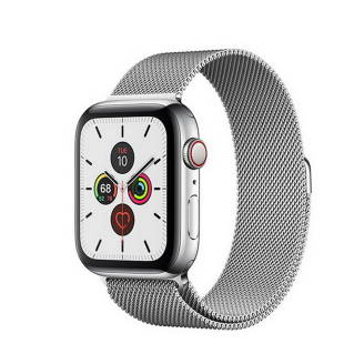 APPLEWatch Series 5 GPS+Cellular (40mm, Stainless Steel Case, Silver Milanese Loop Band)