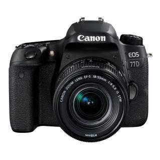 CANONDSLR Camera (24 MP, Black) EOS 77D W/18-55 IS STM