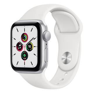 APPLEWatch SE GPS (40mm, Silver Aluminum Case, White Sport Band)