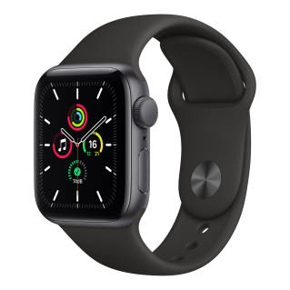 APPLEWatch SE GPS (40mm, Space Gray Aluminum Case, Black Sport Band)
