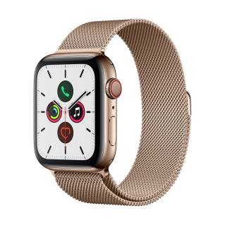 APPLEWatch Series 5 GPS+Cellular (44mm, Gold Stainless Steel Case, Gold Milanese Loop Band)
