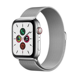 APPLEWatch Series 5 GPS+Cellular (44mm, Stainless Steel Case, Silver Milanese Loop Band)