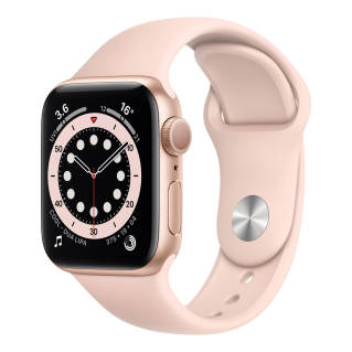 APPLEWatch Series 6 GPS (40mm, Gold Aluminum Case, Pink Sand Sport Band)