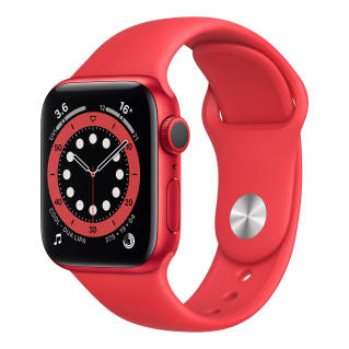 APPLEWatch Series 6 GPS (40mm, (PRODUCT)RED Aluminum Case, (PRODUCT)RED Sport Band)