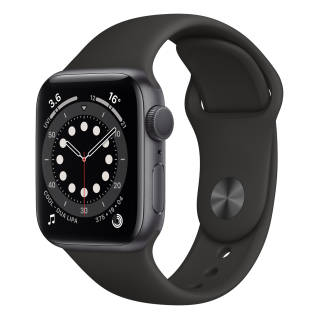 APPLEWatch Series 6 GPS (40mm, Space Gray Aluminum Case, Black Sport Band)