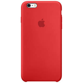 APPLE Silicone Case for iPhone 6s ((Product) Red)