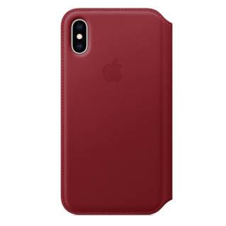 APPLEเคสหนังแบบฝาปิดสำหรับ iPhone XS (สี (Product) Red)