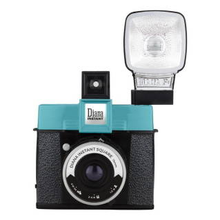 LOMO Instant Camera (Black/Blue) Diana Instant Square With Flash