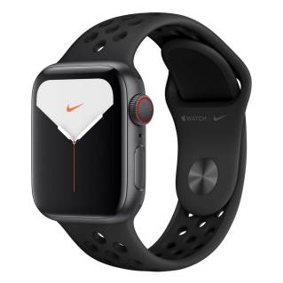APPLEWatch Nike Series 5 GPS + Cellular (40mm, Space Gray Aluminum Case, Anthracite/Black Nike Sport Band)