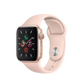 APPLEWatch Series 5 GPS (40mm, Gold Aluminum Case, Pink Sand Sport Band)