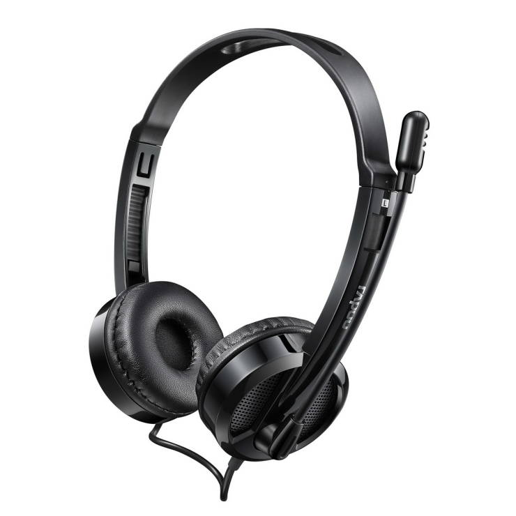 RAPOO Over-Ear Wire Gaming Headphone (Black) HT-H100-BK-NEW