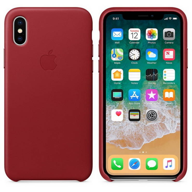 detailed look b8569 d9cb7 Leather Case for iPhone X ((Product) Red)