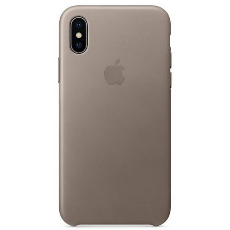 official photos 0cbfb be5ab Leather Case for iPhone X (Taupe Color)