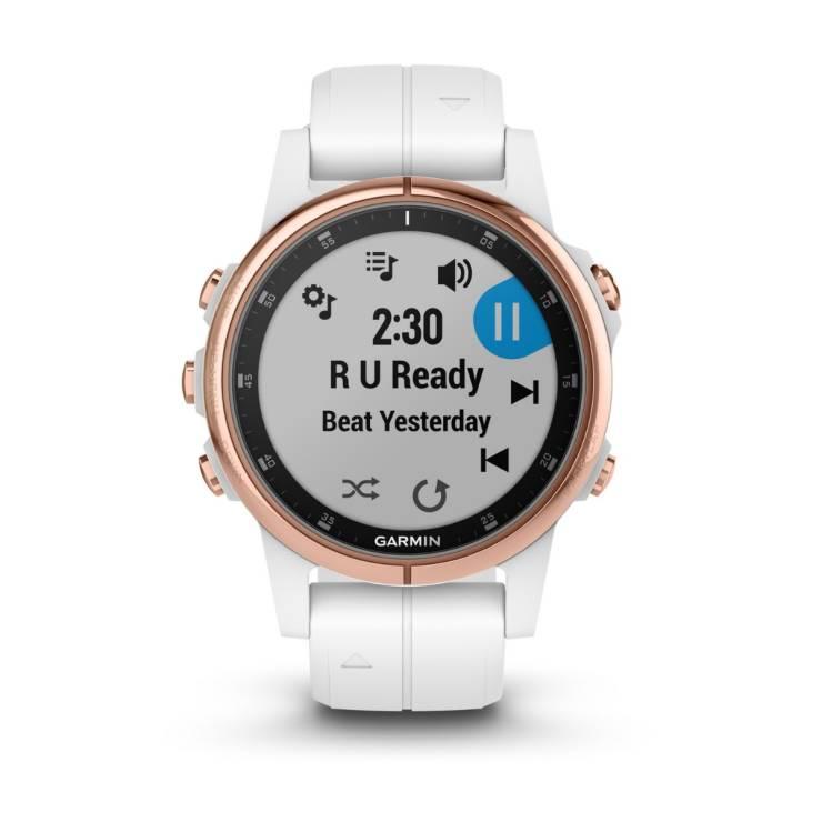 f29a59802d2b06 GARMIN Smart Watch (42 mm, Sapphire Rose Gold) Fenix 5S Plus
