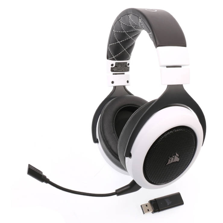 Over-Ear Gaming Bluetooth Headphone (White) HS70