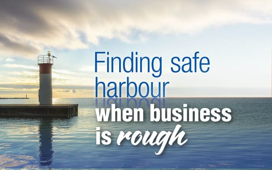Finding safe harbours when business is rough