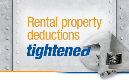 Rental property deductions tightened