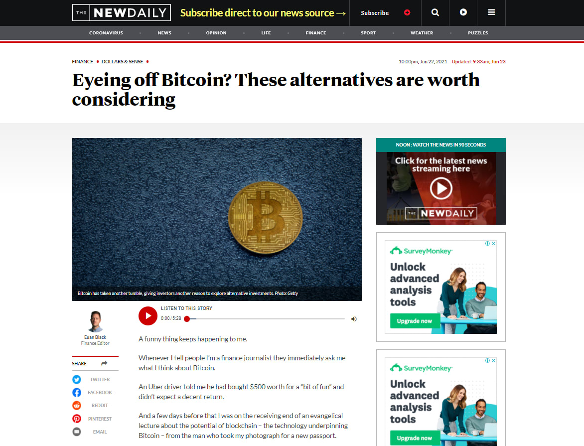 Eyeing off Bitcoin? These alternatives are worth considering – The New Daily