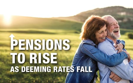 Pensions to rise as deeming rates fall